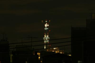 杏林舍の屋上から眺める東京スカイツリー